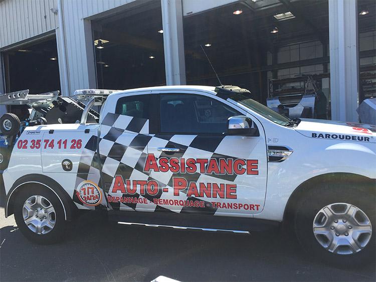 vehicule-flocage assistance Auto panne