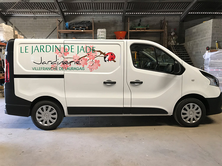vehicule-flocage jardin de jade